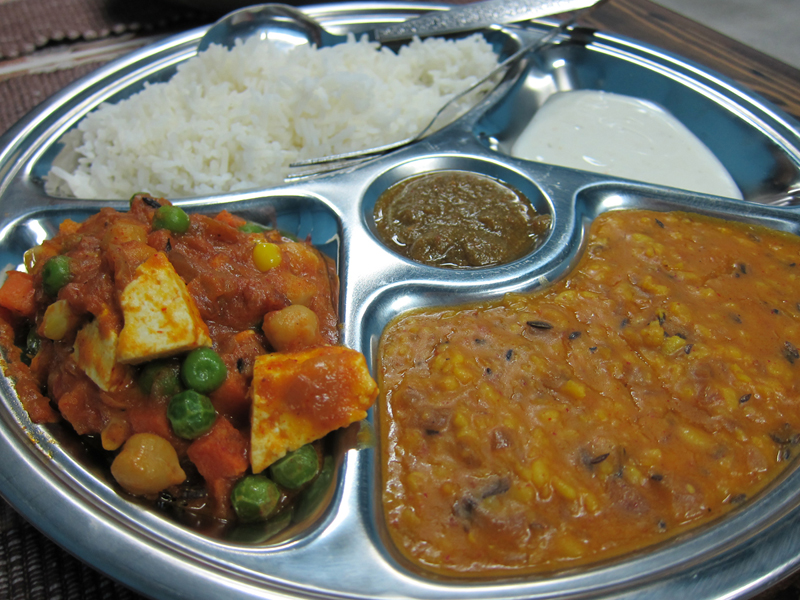 Indian Thali in Thailand